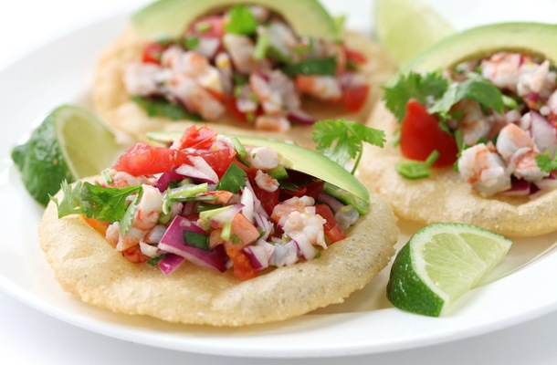 Shrimp Ceviche and Floating Fine Dining