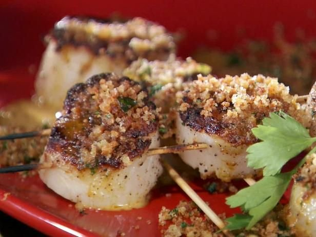 Grilled Sea Scallop Skewers