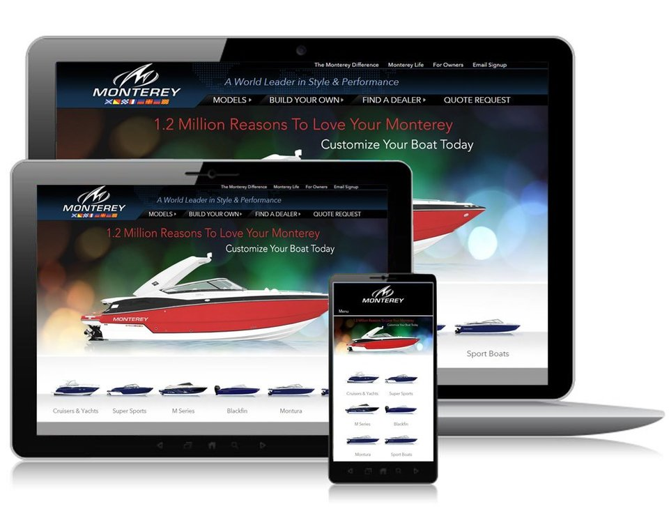 Monterey Boats Releases a New Innovative Website with Responsive Design