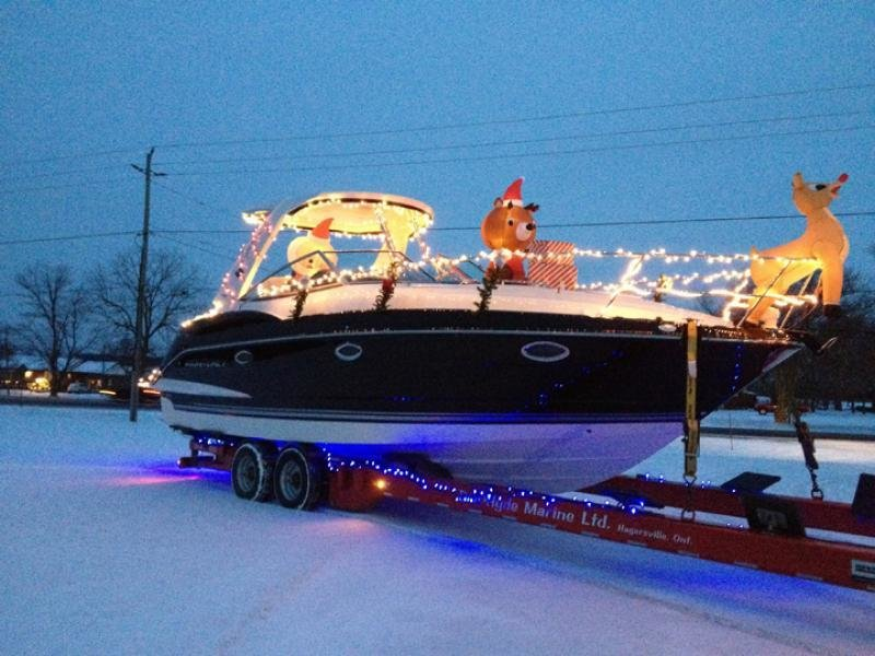 Don Hyde Marine is ready for their Christmas parade in Ontario, Canada!