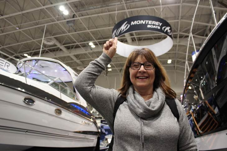 """A happy customer thinks Monterey Boats went to great heights at the Toronto International Boat Show!"""