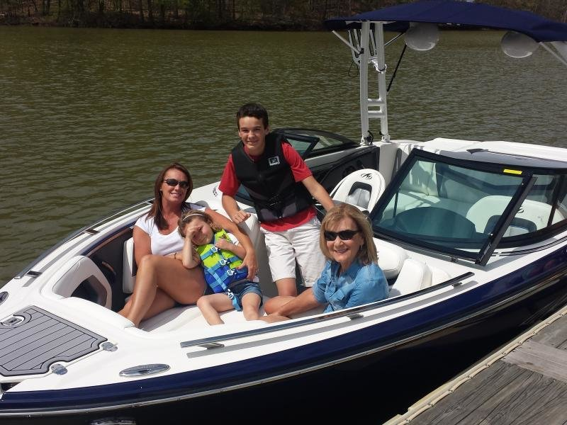 The McDonald family is ready to go on their new 234 Super Sport!