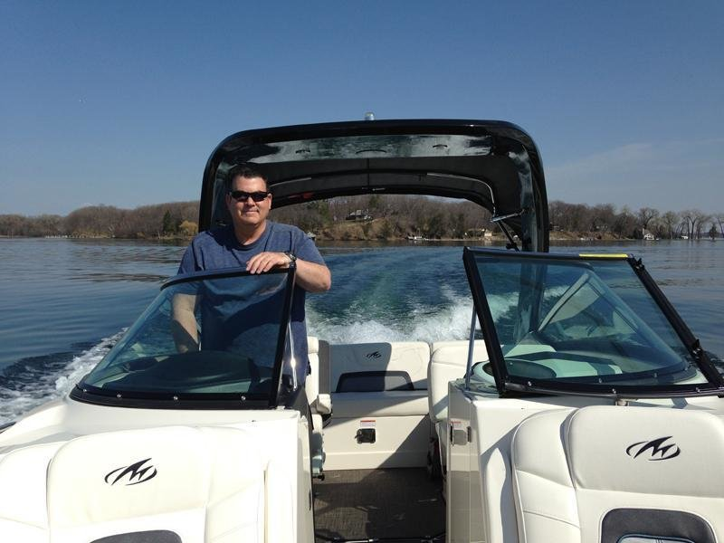 Marvin is enjoying his first cruise of the season on Lake Minnetonka!