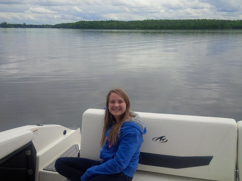 """One happy girl in Ontario, Canada on her new Monterey 268SS!"""