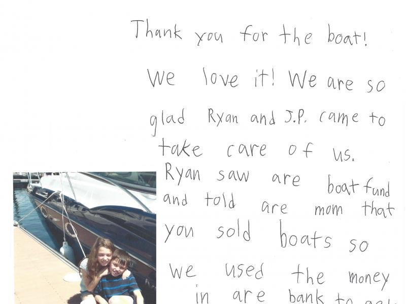 "We just wanted to share this ADORABLE letter we got from some happy ""young"" customers!"