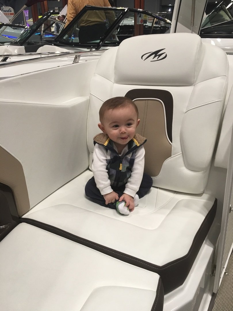 """Captain Christian prepares to take the helm at Coty Marine in Tom's River, New Jersey!"""