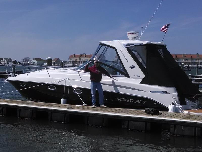 Bill and his new Monterey 340SY are ready for summer in New Jersey!