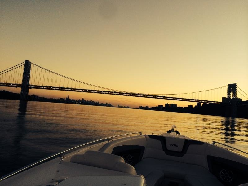 Brian Marangi's evening view aboard his Monterey 328SS!