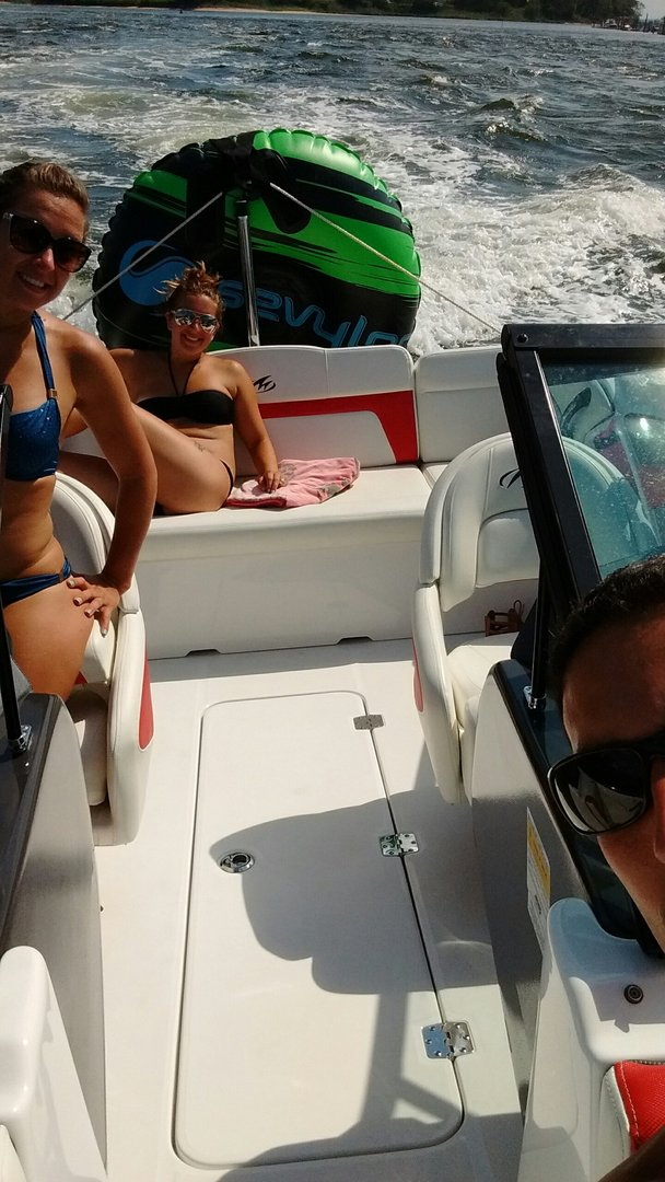 Paul & Shannon enjoying their Monterey Blackfin- Coty Marine, the Jersey Shore!