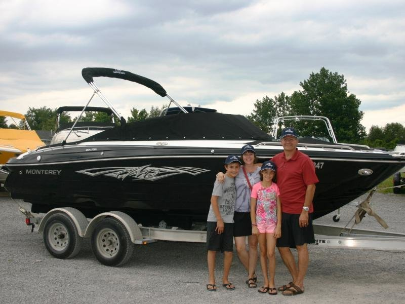 A very excited Attard Family and their new Monterey 204FSX!