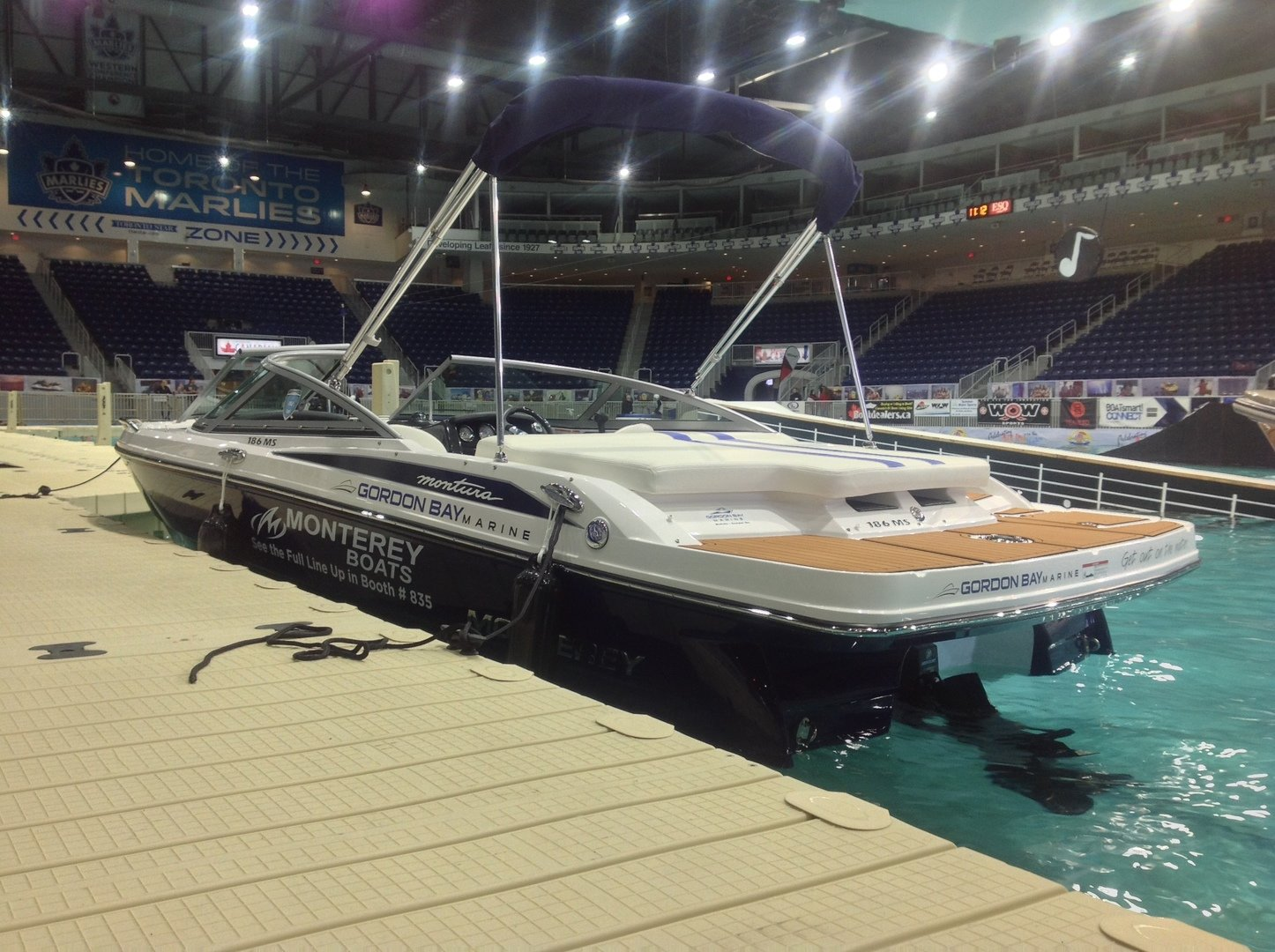 "Monterey on the ""lake"" at the 2015 Toronto international Boat Show! http://www.torontoboatshow.com/"